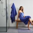 Saunatuch Mariza mit Frottier seite in Blau ca.100x200cm - Dunkelblau, MODERN, Textil (100/200cm) - Bessagi Home