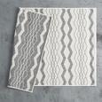 Covor Cu Țesătură Plată Edgar - argintiu/crem, Modern, textil (100/150cm) - Modern Living