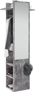 Garderobe Aldona - Graphitfarben, MODERN (70/188/35cm) - Modern Living