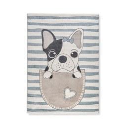 Kinderteppich Dog in Blau ca. 160x220cm - Blau, Basics, Textil (160/220cm) - Mömax modern living