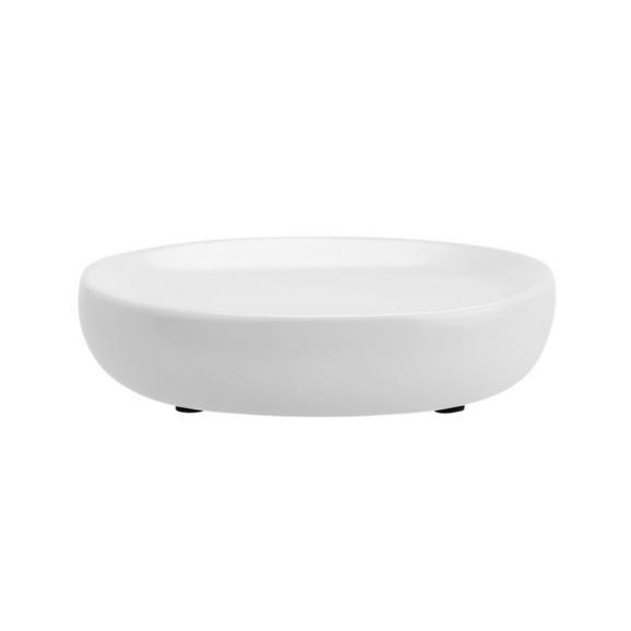 Seifenschale Edna Weiß - Weiß, MODERN, Keramik (13/3/8,5cm)