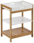 Regal Mirella - Buchefarben/Weiß, MODERN, Holz (40/50/30cm) - Modern Living