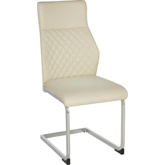 schwingstuhl creme chromfarben online kaufen m max. Black Bedroom Furniture Sets. Home Design Ideas