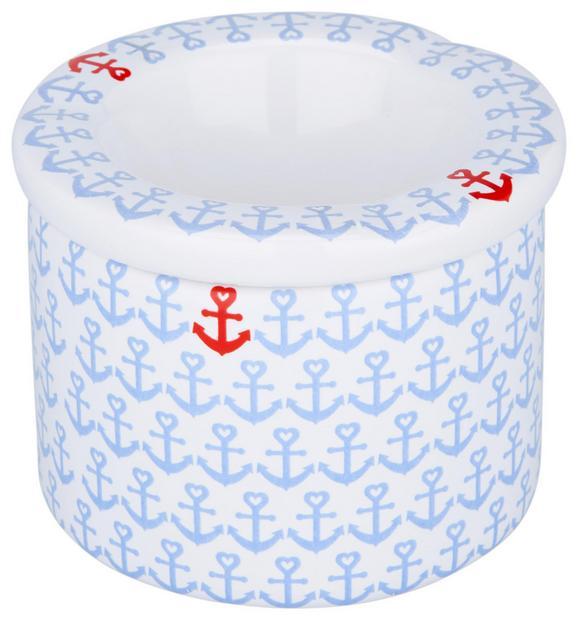 Pepelnik Roberta - modra, keramika (9/7cm)