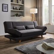Sofa Faith mit Schlaffunktion inkl. Kissen - Dunkelgrau, MODERN, Holz/Textil (186/73/83cm) - Mömax modern living