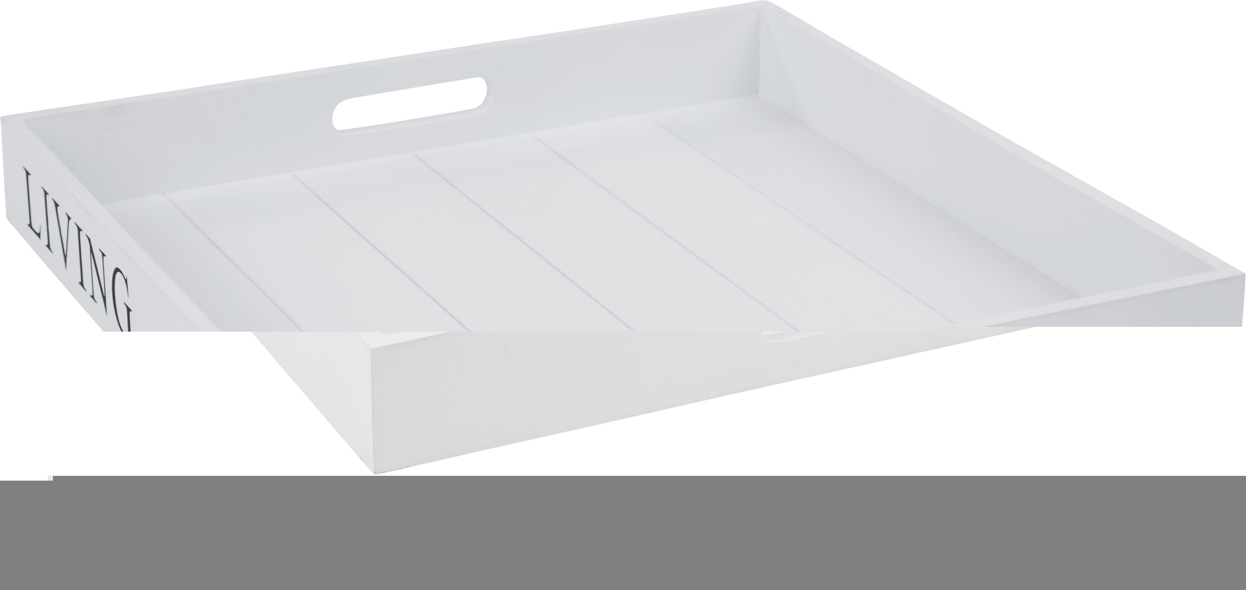Tálca Lena - barna/fehér, romantikus/Landhaus, fa (40/40/5cm) - MÖMAX modern living