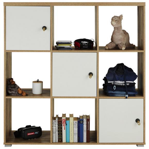 Regal in Eichefarben Old Style - Eichefarben/Anthrazit, KONVENTIONELL, Naturmaterialien/Holzwerkstoff (123/126/38cm) - Modern Living