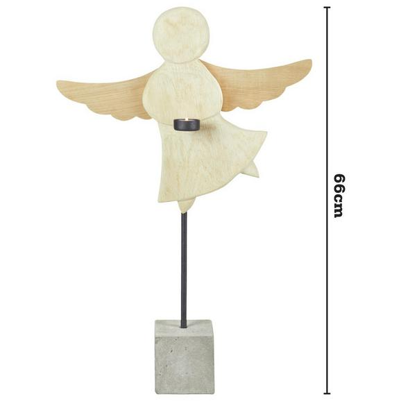Dekoengel Marie H ca. 66 cm - Naturfarben, MODERN, Holz (66cm)