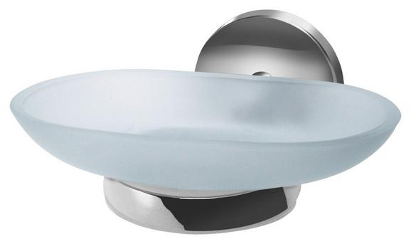 Seifenschale Vision Chromfarben - Silberfarben, Metall (13/6/12cm) - Mömax modern living
