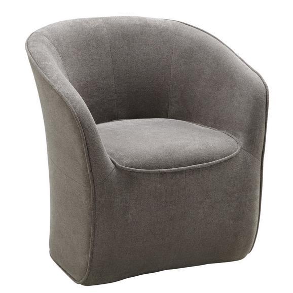 Fotelj Steffen - siva/rjava, Moderno, leseni material/tekstil (72/77/72cm) - Modern Living