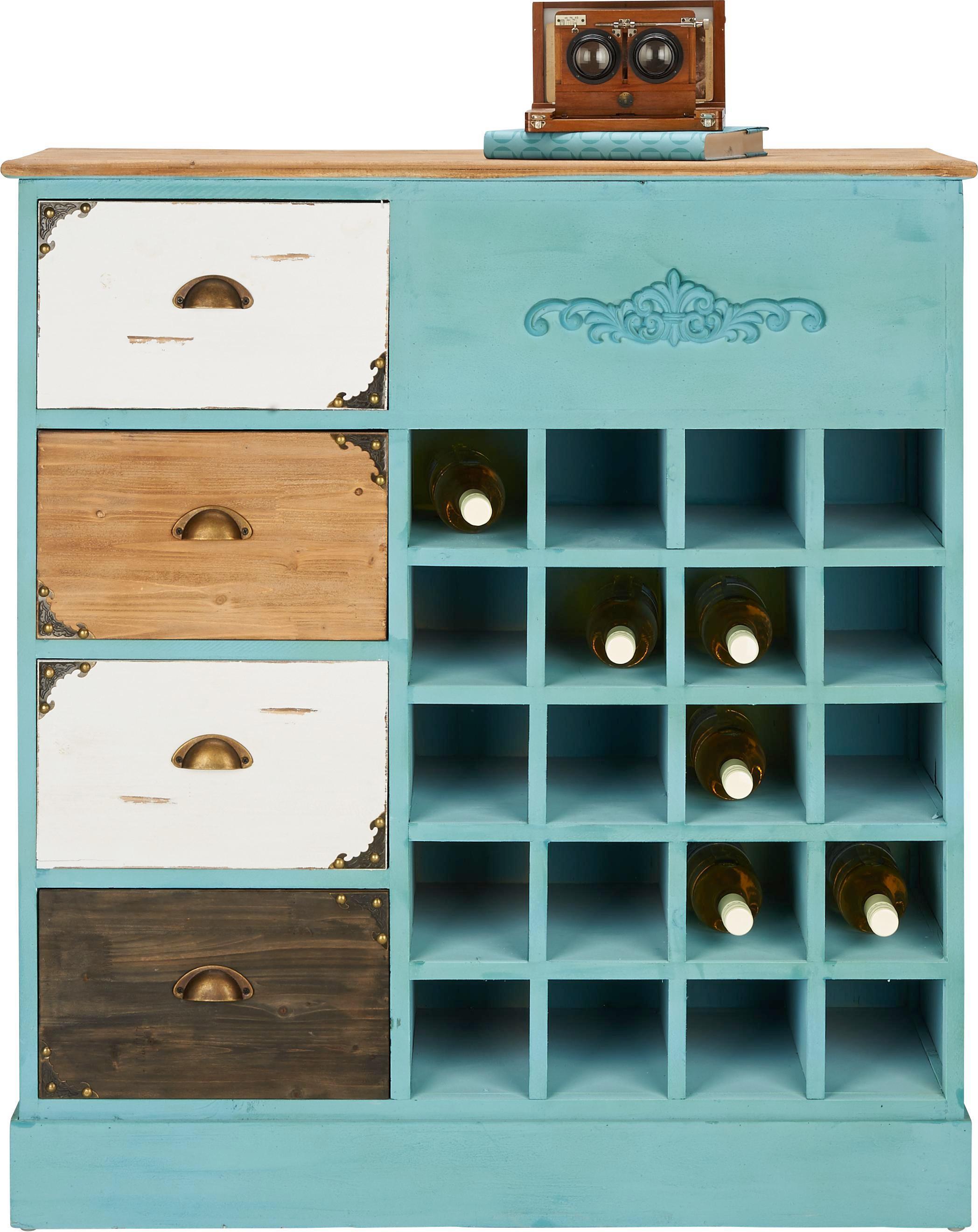 Anrichte Calvin - Multicolor, LIFESTYLE, Holz/Metall (97,5/106,5/37,5cm) - MÖMAX modern living