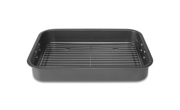 Sütőedény Toskana - fekete/nemesacél színű, fém (39/5,8/28,1cm) - MÖMAX modern living