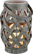 Laterne Caris in verschiedenen Farben - Schwarz/Grau, Kunststoff (14/23cm) - Mömax modern living