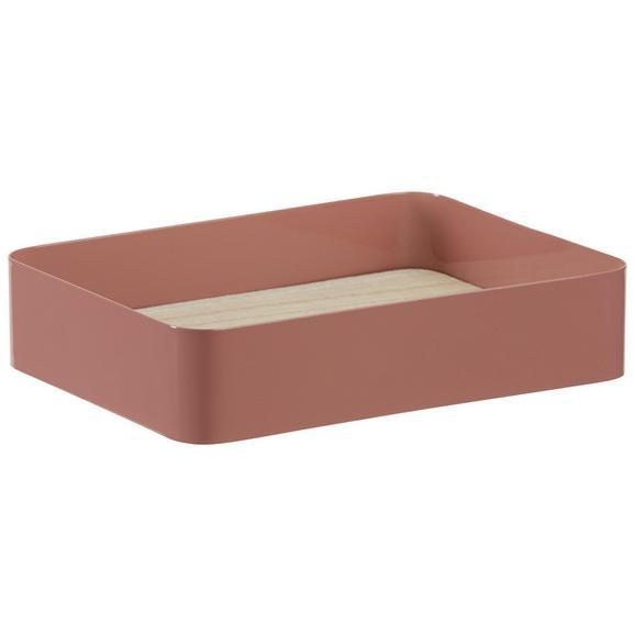 Dekotablett Liam in Altrosa - Altrosa/Naturfarben, Holz/Metall (20,5/4,5/15,5cm) - Mömax modern living