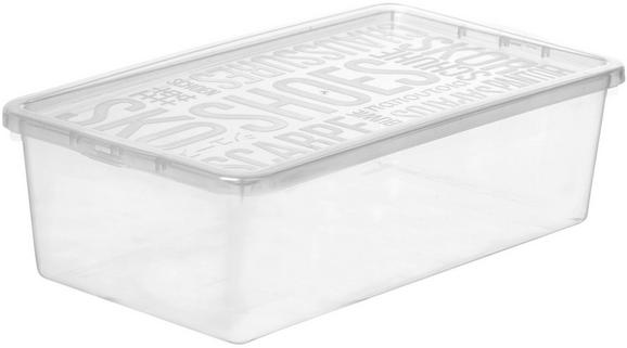 Box mit Deckel Sandra aus Kunststoff - Transparent, Kunststoff (19/9,6/34,5cm) - Mömax modern living