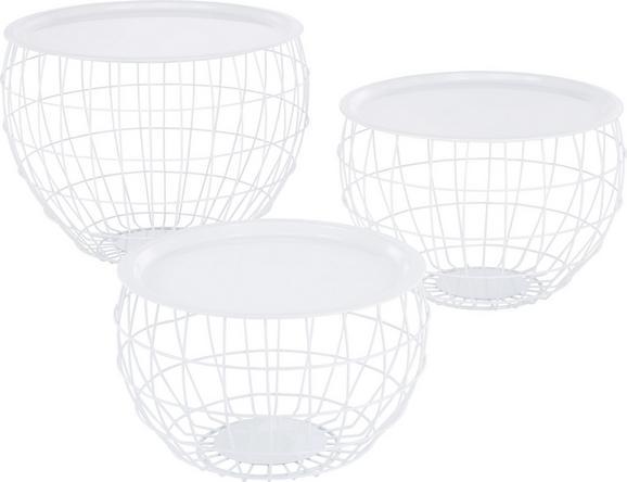 Beistelltischset in Weiß, 3-teilig - Weiß, Metall - Mömax modern living