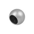 Endstück Combi Ball aus Edelstahl - Edelstahlfarben, MODERN, Metall (1/1/1cm) - Mömax modern living