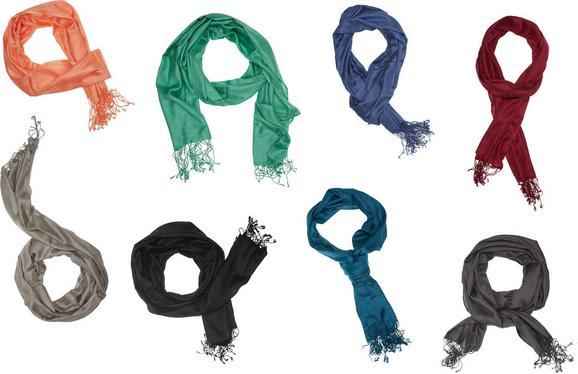 Schal Pashmina In 8 Farben - Blau/Anthrazit, Textil (50/180cm) - Mömax modern living