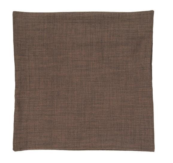 Kissenhülle Leinenoptik, ca. 50x50cm - Dunkelbraun, Textil (50/50cm) - Premium Living