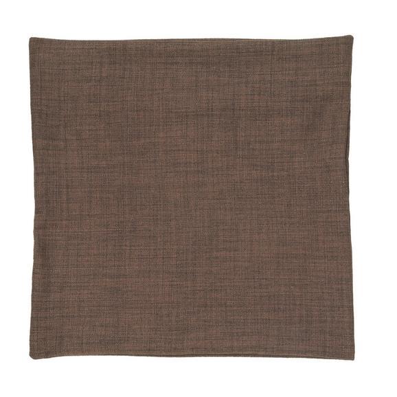 Párnahuzat Leinenoptik 50/50 - Sötétbarna, Textil (50/50cm) - Premium Living