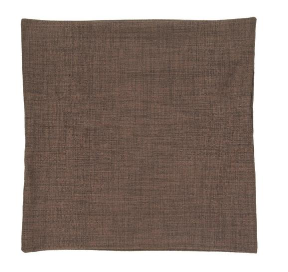Prevleka Blazine Leinenoptik - temno rjava, tekstil (50/50cm) - Premium Living