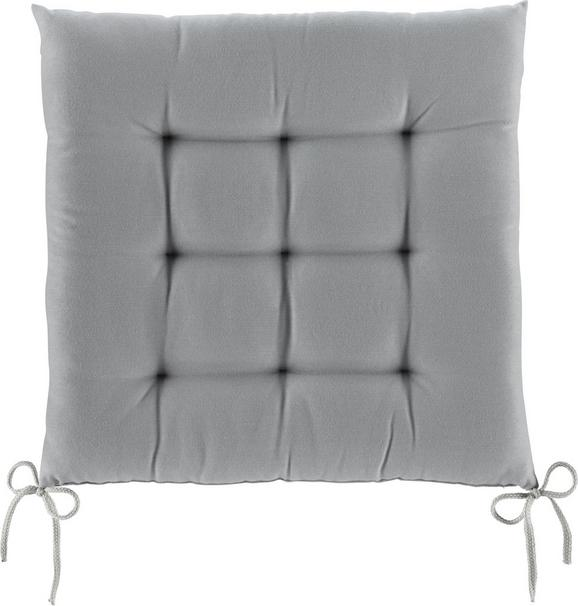 Sitzkissen Anita in Grau, ca. 40x40x4cm - Hellgrau, Textil (40/40/4cm) - Mömax modern living