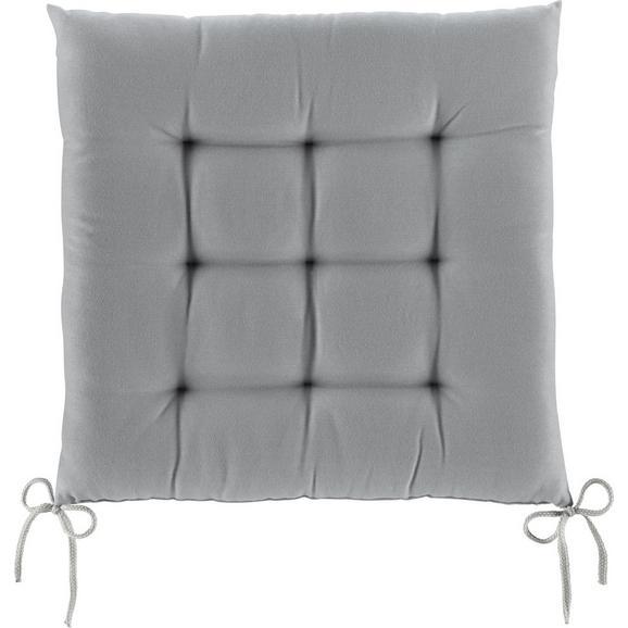 Sitzkissen Anita in Grau ca. 40x40x4cm - Hellgrau, Textil (40/40/4cm) - Mömax modern living