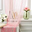 Zsinórfüggöny Victoria - Rózsaszín, Textil (90/245cm) - Mömax modern living