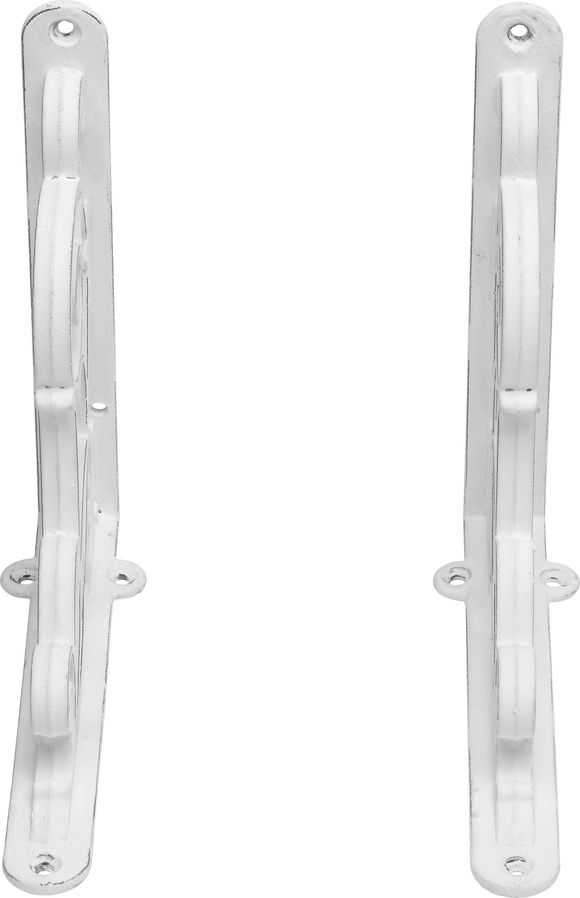 Wandhalter in Weiß aus Metall - Weiß, ROMANTIK / LANDHAUS, Metall - MÖMAX modern living
