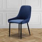Stuhl Enna - Blau/Schwarz, MODERN, Holz/Textil (48/85/58cm) - Mömax modern living