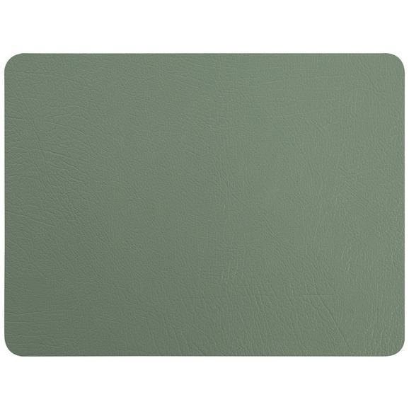 Tischset Jette aus Leder in Grün - Grün, Leder (33/42cm) - Premium Living