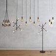Stehleuchte Darcie 6-flammig - Goldfarben/Schwarz, MODERN, Metall (54/150cm) - Modern Living