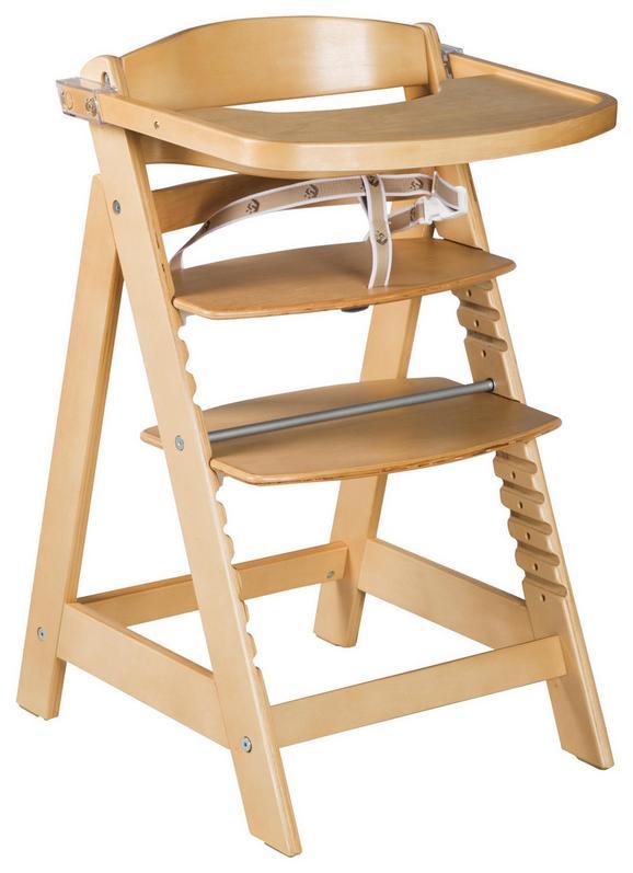 Hochstuhl Holz/Naturfarben - Naturfarben, Holz (50,5/54/80cm) - Modern Living