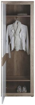 Kleiderschrank Weiß/wildeiche - Chromfarben/Weiß, MODERN, Kunststoff (65/197/36cm) - Mömax modern living
