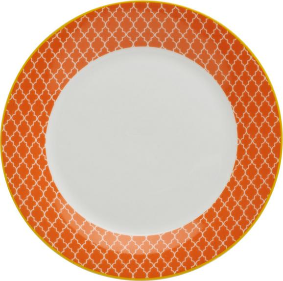 Desertni Krožnik Sahara - rumena/bela, Trendi, keramika (20,32cm) - Mömax modern living