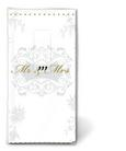 Robček Mr. & Mrs. Gold - zlata/bela, Romantika, papir (23/18/15cm)