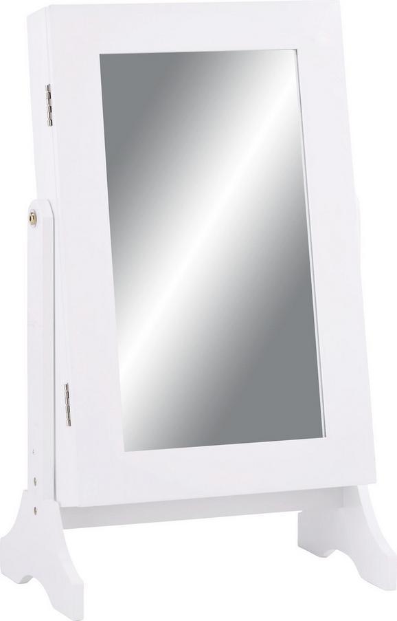 Schmuckschrank in Weiß - Weiß, MODERN, Glas/Holzwerkstoff (35/60/23,3cm) - MÖMAX modern living