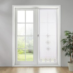 Gardine in Weiß ca. 60x180 cm 'Vanessa' - Weiß, KONVENTIONELL, Textil (60/180cm) - Bessagi Home
