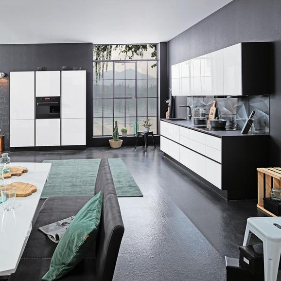 Einbauküche Focus Line N Alpinweiß - Weiß (300/125cm)