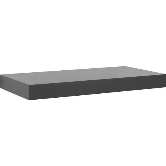 Stenska Polica Anja - črna, leseni material (50/4,5/24cm) - Mömax modern living