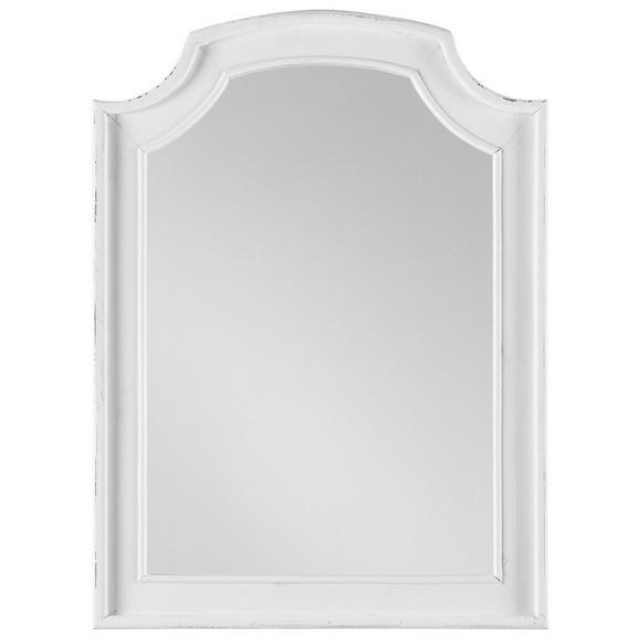 Spiegel in Weiß 63/85/3,5 cm 'Lewis Vintage' - Weiß, MODERN, Glas/Holz (63/85/3,5cm) - Bessagi Home