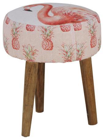 Hocker Rosa - Pink/Rosa, LIFESTYLE, Holz/Textil (37/37/45cm) - Mömax modern living