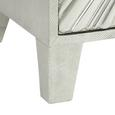 Nachtkästchen aus Mangoholz teilmassiv - Silberfarben/Grau, LIFESTYLE, Holz/Holzwerkstoff (45/65/40cm) - Premium Living