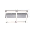 LED-Deckenleuchte Anne max. 20 Watt - Silberfarben, Kunststoff/Metall (57,8/54,2/7cm)