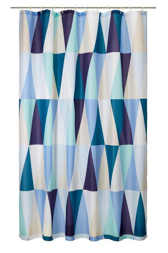 Kopalniška Zavesa Triangel - večbarvno, Trendi, tekstil (180/200cm) - Mömax modern living