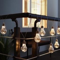 Lichterkette Levin mit 8 Lichtern L ca. 270 cm - Transparent, Basics, Kunststoff (270cm) - Bessagi Home