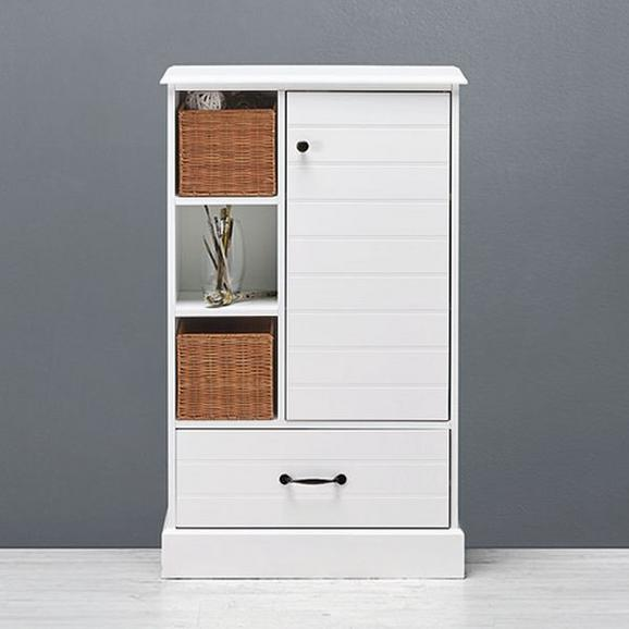 Kommode Ciao inkl. Körbe - Weiß, Holz/Metall (60/100/28cm) - Premium Living