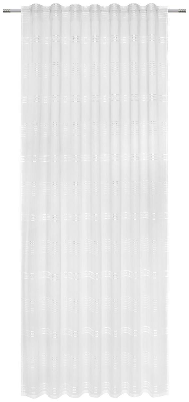 Fertigvorhang Louis Weiß 140x245cm - Weiß, KONVENTIONELL, Textil (140/245cm) - Mömax modern living