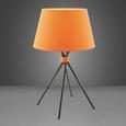 Tischleuchte Tian - Schwarz/Orange, Textil/Metall (35/59cm) - Mömax modern living
