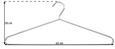 Vállfa Szett Brunni-5 - Króm, konvencionális, Fém (42/18cm) - Carryhome
